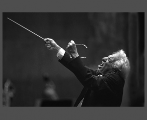 Bernstein conducting with passion